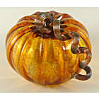 Harvest Glass Pumpkin