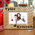 Engraved I Love You Wooden Picture Frame