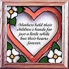 Mother's Heart Stained Glass Window Suncatcher