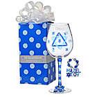 Personalized Mozel Tov Wine Glass