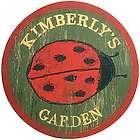 Personalized Ladybug Garden Sign
