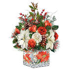Lena Liu Always in Bloom Light-Up Holiday Centerpiece