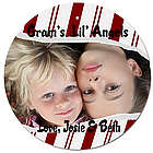 Personalized Photo Candy Cane Christmas Ornament