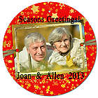 Personalized Photo Red Star Christmas Tree Ornament