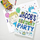Happy Birthday Personalized Coloring Activity Book and Crayon Set