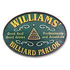 Billiard Parlor Personalized Sign