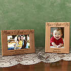 Personalized Mom + Dad = Me Wooden Picture Frame