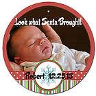 Personalized Photo Striped Snowflake Ornament