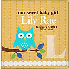 Personalized Orange Owl Photo Baby Album