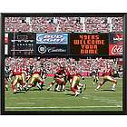 San Francisco Personalized Scoreboard 49ers 11x14 Framed Canvas