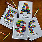 Personalized Crayon Letter Notebook Set