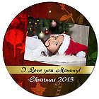 Stamped Christmas Decor Ornament with Personalized Photo