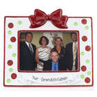 Personalized Christmas Polka Dot Picture Frame