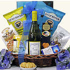 Cupcake Chardonnay Gourmet Food & Wine Birthday Gift Basket