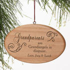 Personalized Grandparents Wooden Ornament