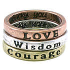 Courage, Wisdom, and Love Stackable Rings