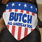 All American Personalized Dog Bandana