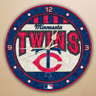 Minnesota Twins Glass Wall Clock