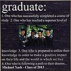 Personalized Graduation Definition Picture Frame