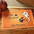 Personalized Halloween Ghost Door Mat