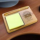 Personalized Photographer Wooden Notepad & Pen Holder