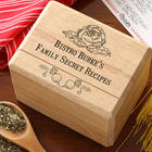 Bon Appetit Personalized Recipe Card Box