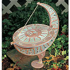 Copper Sun and Moon Sundial