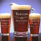 Personalized Home Brewery Two Pint Glass & Pitcher Set
