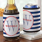 Anchors Aweigh Personalized Can and Bottle Wrap