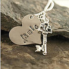 Key to My Heart Personalized Hand Stamped Necklace