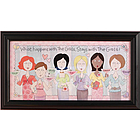 Personalized What Happens With the Girls 8x16 Print