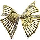 Golden Bow Brooch