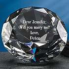 Personalized Crystal Diamond Paperweight