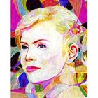 Charlize Theron Oil Painting Art Print