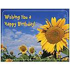 Sunflower Happy Birthday Card and Magnet