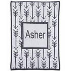 Arrows and Arrows Personalized Stroller Blanket