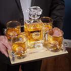 Personalized Fire & Rescue Glassware Presentation Gift Set