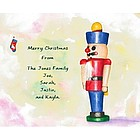 Holiday Nutcracker Personalized Fine Art Print