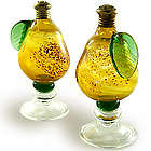 Golden Pear Art Glass Salt and Pepper Shakers