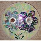 Flowers Stained Glass Stepping Stone