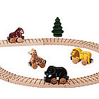 Wooden Safari Name Train Boxed Set