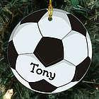 Soccer Ball Personalized Ceramic Ornament
