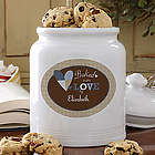 Baked with Love Personalized Cookie Jar