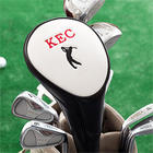 Personalized Golf Club Head Cover with Golfer