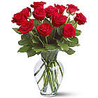 One Dozen Roses Bouquet with Vase