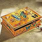 Reverse Painted Butterfly Box