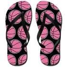 Pink Basketball Flip-Flops