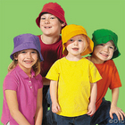 Child's Bright Color Bucket Hat Set
