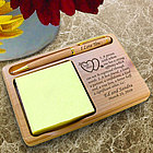 Personalized Soul Mate Definition Wooden Notepad & Pen Holder