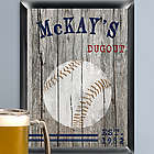 Personalized Baseball Dugout Sign